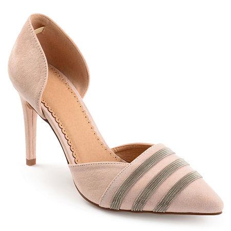 Journee Collection Womens Felicia Pumps Stiletto Heel, 7 Medium, Pink