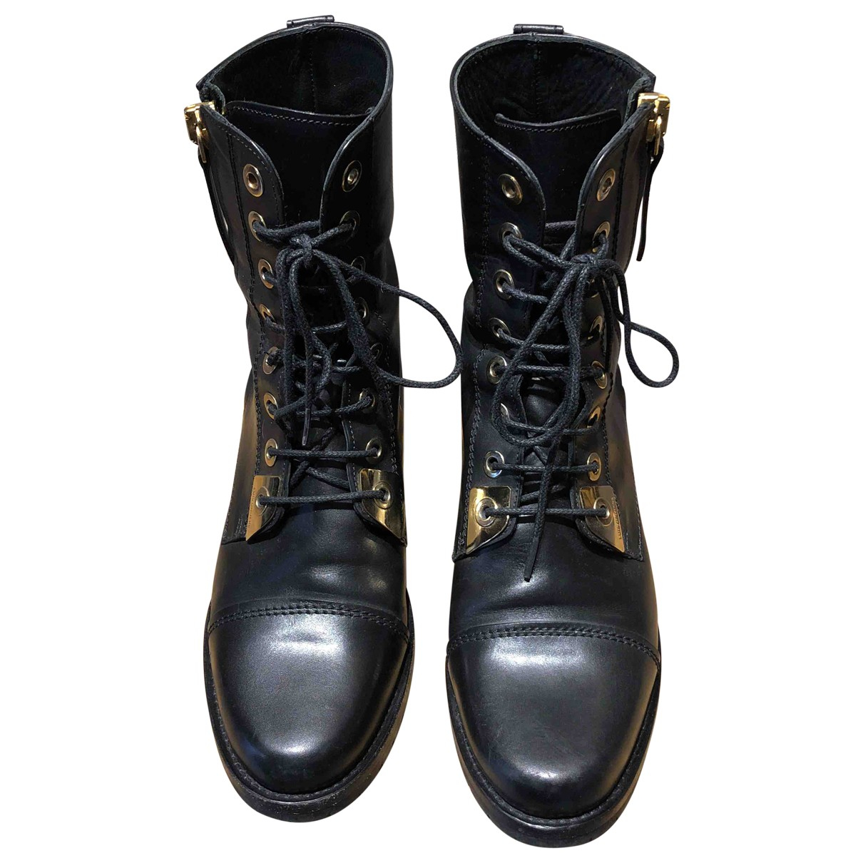 Luis Onofre \N Black Leather Boots for Women 38 EU