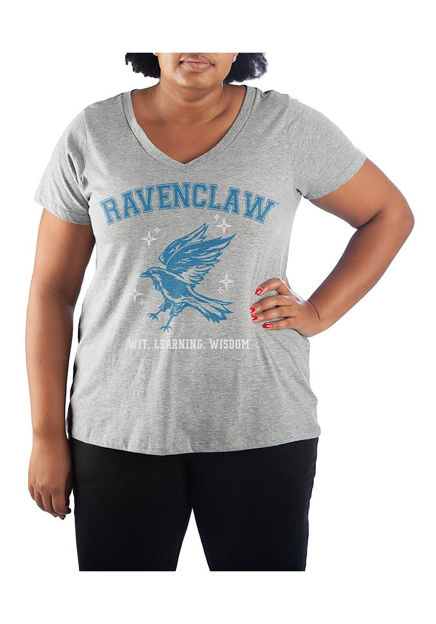 Ravenclaw Plus Size V-neck Tee for Women