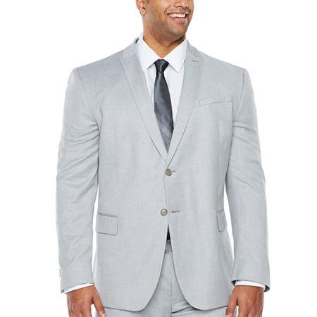 JF J.Ferrar Light Gray Stretch Suit Jacket - Big & Tall, 56 Big Regular, Gray