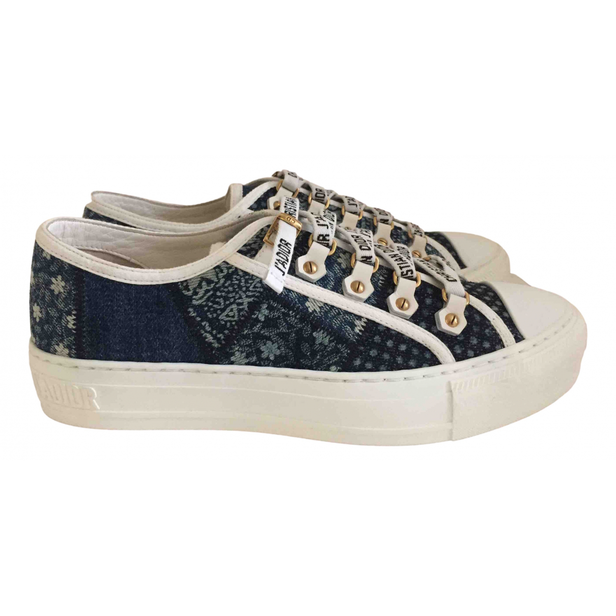 Dior Walk 'n' Dior Blue Cloth Trainers for Women 37.5 EU