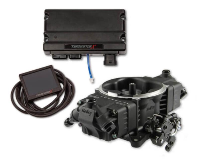 Holley EFI 550-1005 TERMINATOR X STEALTH 4150, 8 INJ, BLACK