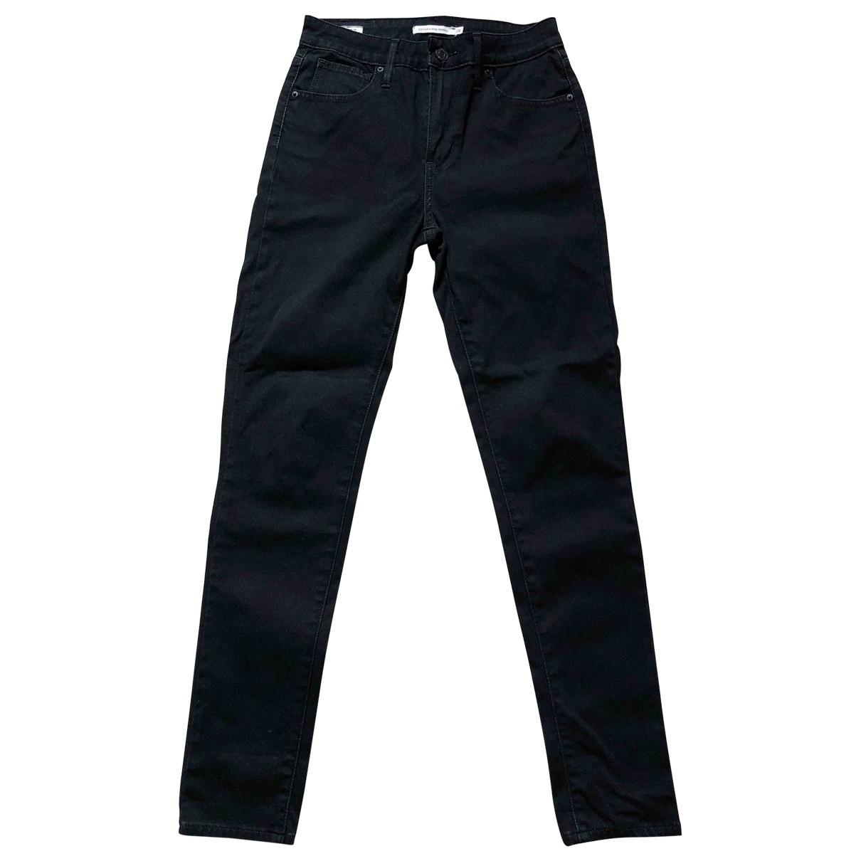 Levi's 721 Black Cotton - elasthane Jeans for Women 34 FR