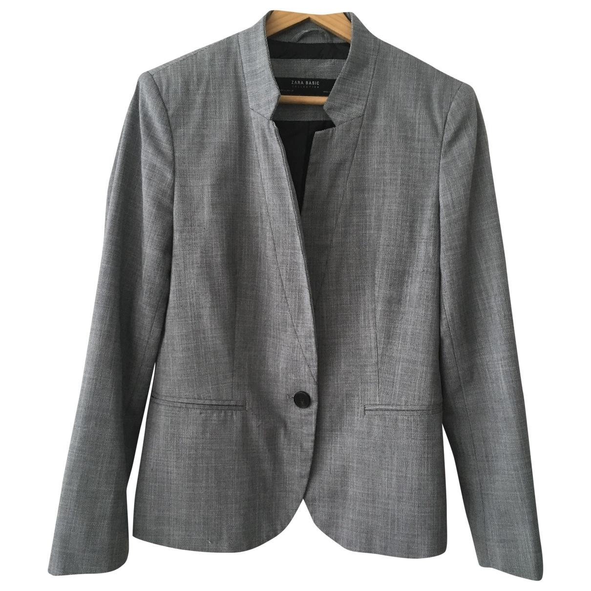 Zara \N Grey Cotton jacket for Women 40 FR