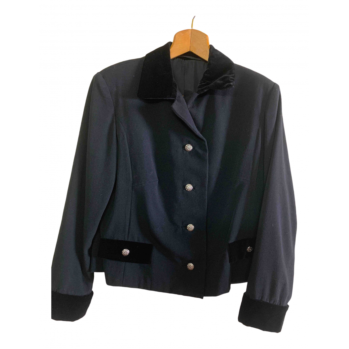 Non Signé / Unsigned \N Black Wool jacket for Women 48 IT