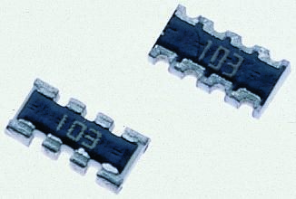 Bourns CAY16 Series 1MΩ ±5% Isolated SMT Resistor Array, 4 Resistors, 0.25W total 1206 (3216M) package Convex (50)