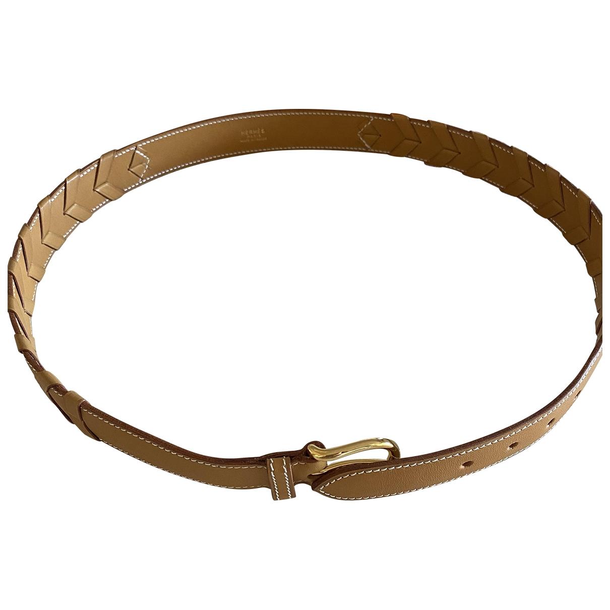 Hermès \N Camel Leather belt for Women 80 cm