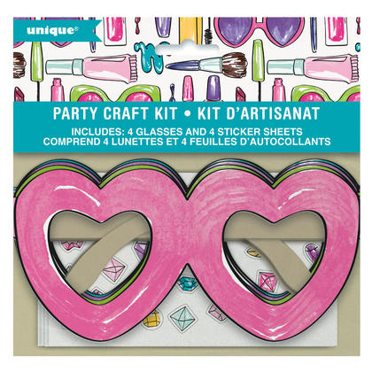 DIY Heart Glasses Party Craft Kit for 4 Pour la fête d'anniversaire