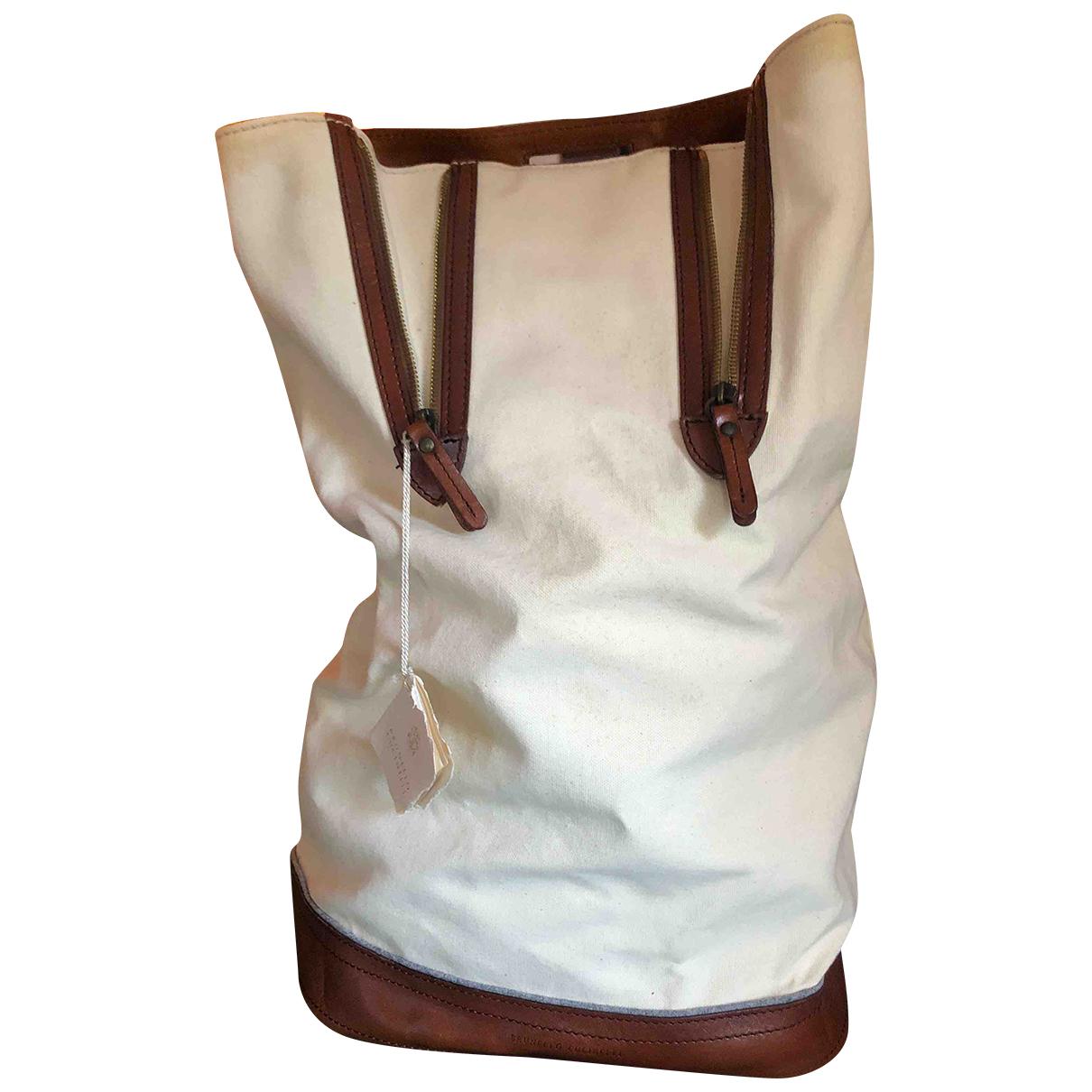 Brunello Cucinelli N White Cotton backpack for Women N