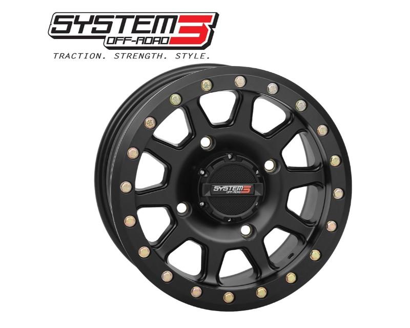 DragonFire 19-0081 SB-3 Beadlock UTV Wheel 14x10 4/137 5+5(0mm) Matte Black Can-Am Commander | Defender | Maverick | Test | Honda Pioneer