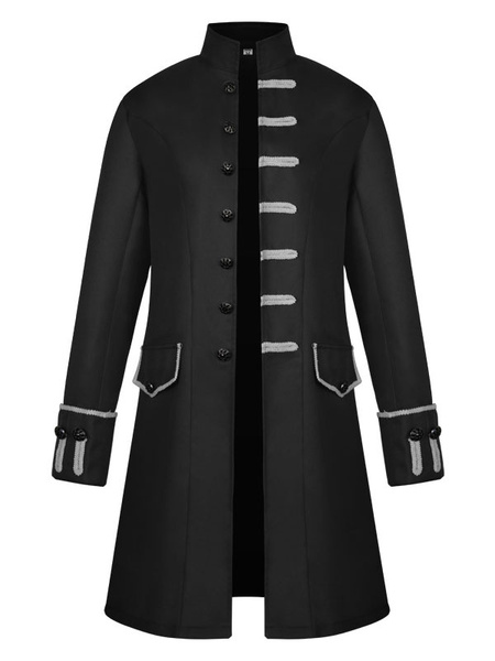 Milanoo Gothic Steampunk Victorian Frock Coat Jacket Uniform