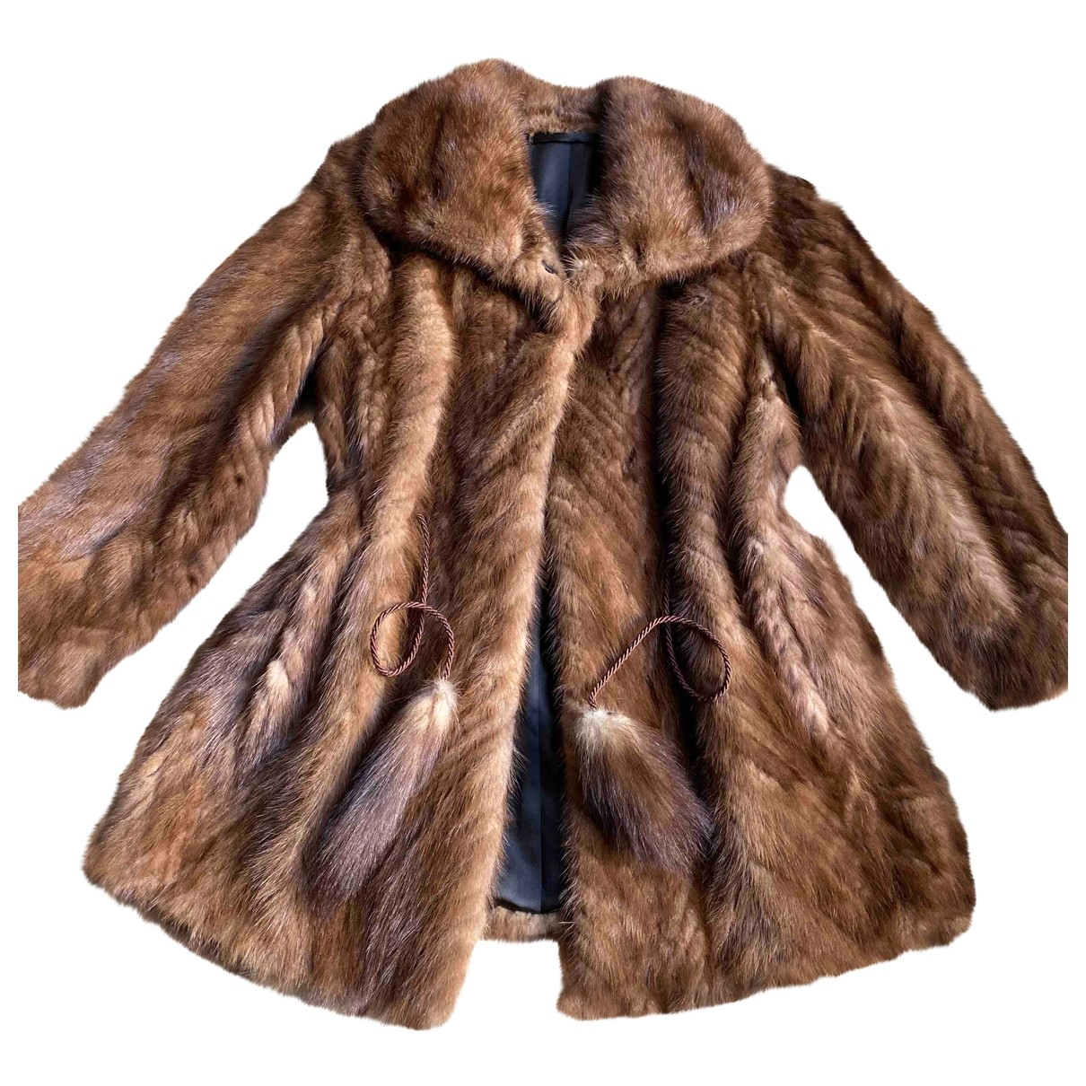 Non Signé / Unsigned \N Brown Mink coat for Women 34 FR