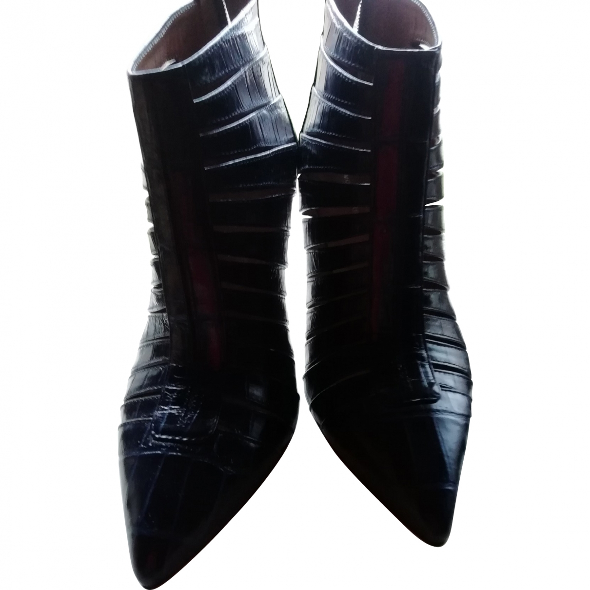 Twin Set \N Blue Leather Ankle boots for Women 36 EU