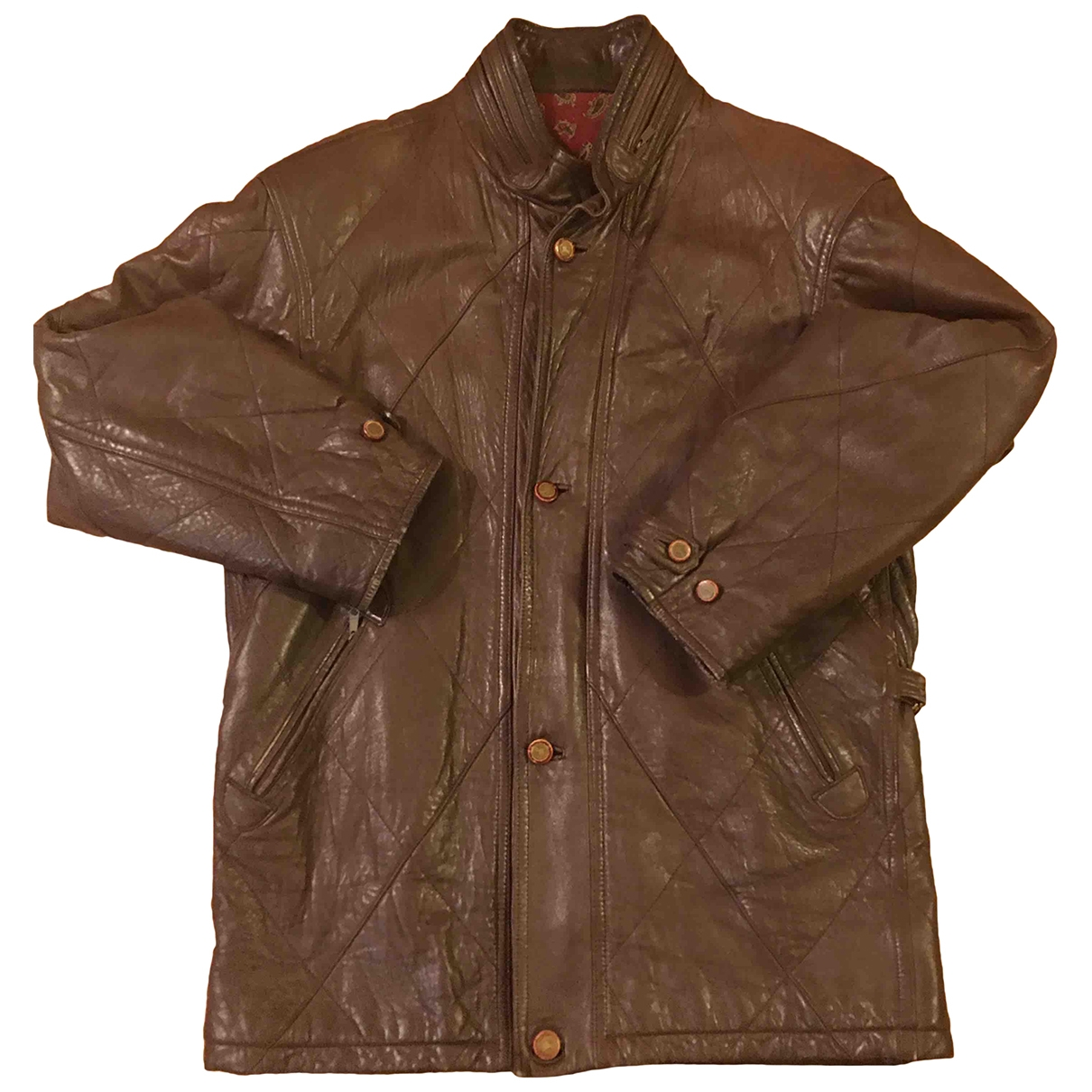 Burberry \N Brown Leather coat  for Men 3 0 - 6
