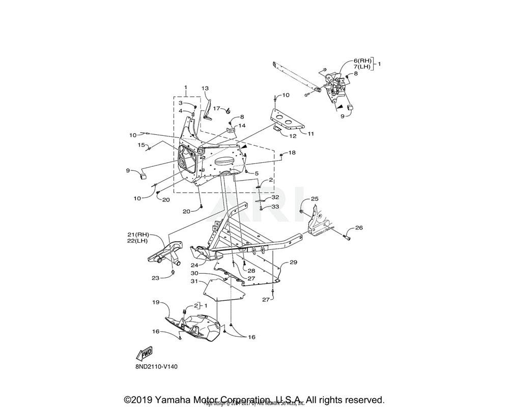 Yamaha OEM 8JP-RA281-00-00 SCREW, TAPPING M6X1X20