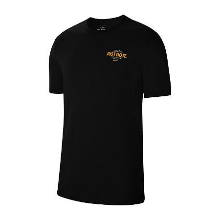 Nike Mens Crew Neck Short Sleeve T-Shirt, Xx-large , Black