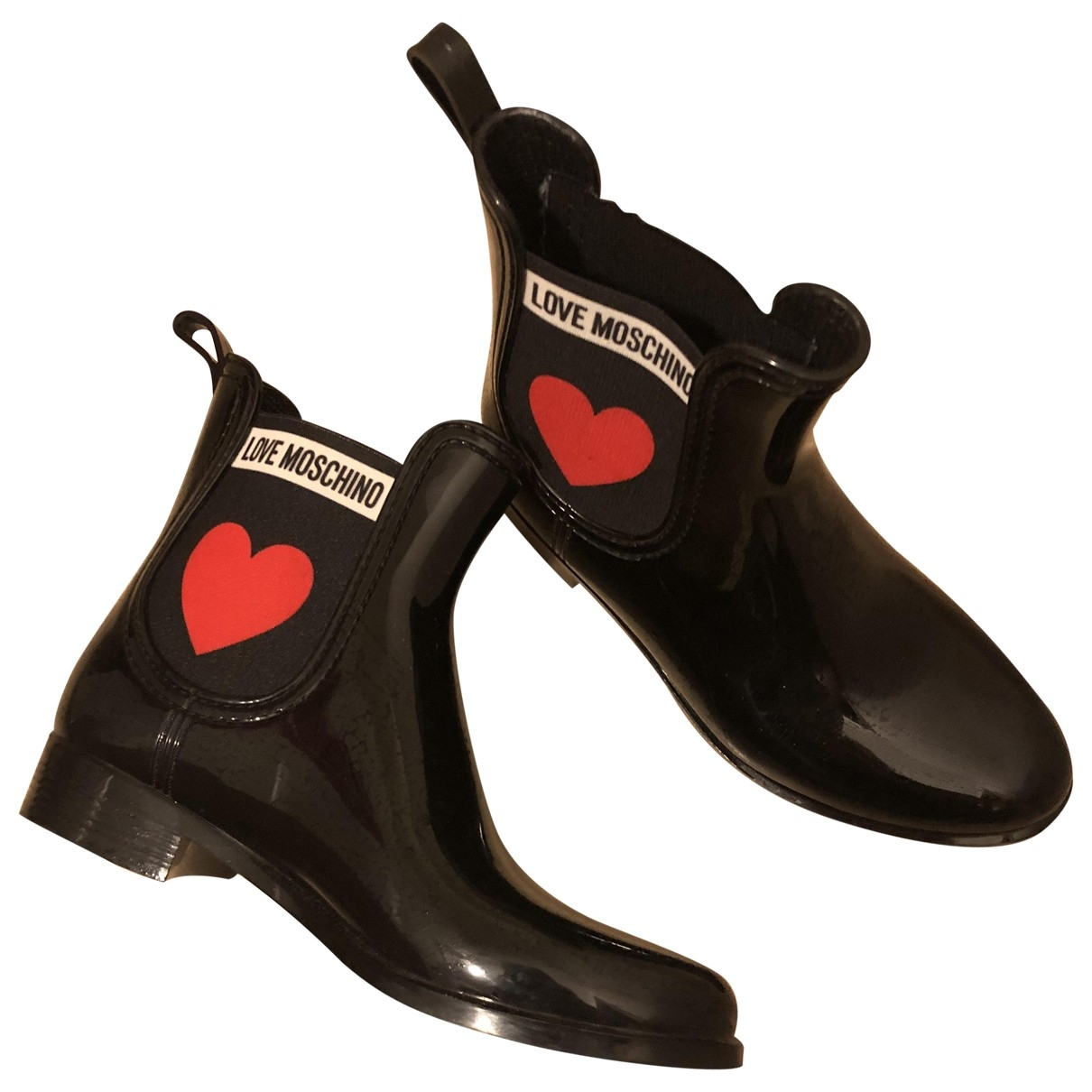 Moschino Love \N Black Rubber Boots for Kids 35 EU
