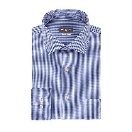 Van Heusen Flex Collar Dress Long Sleeve Shirt - Big & Tall, 18.5 34-35, Blue