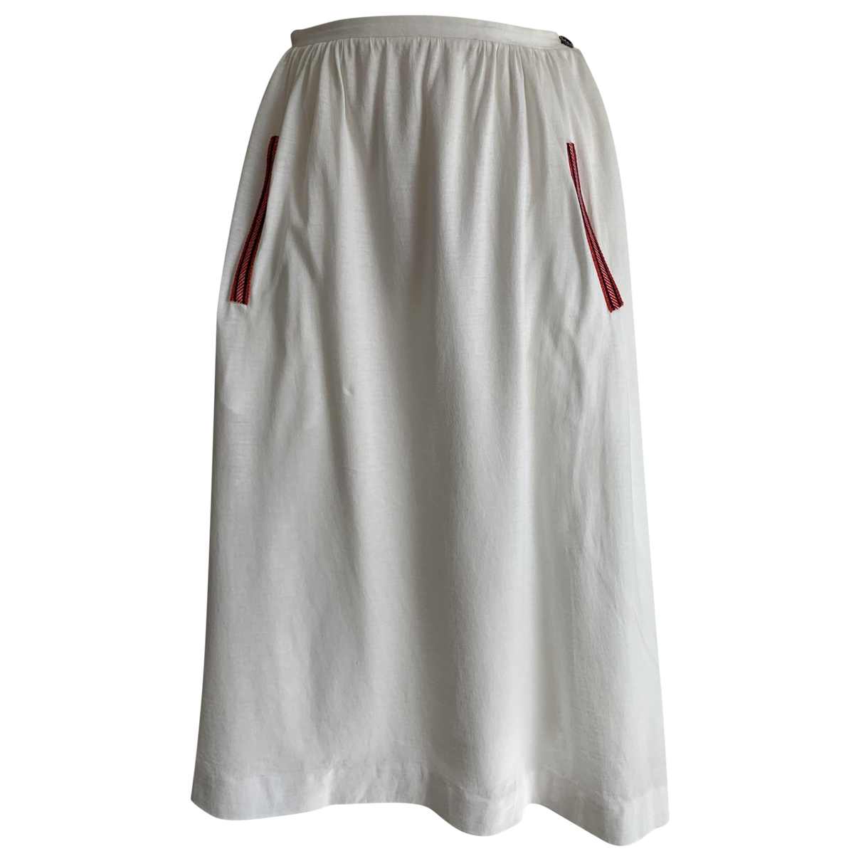 Herm??s \N White Cotton skirt for Women 40 FR