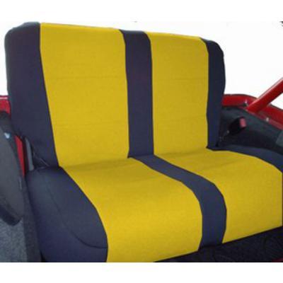 Coverking Neoprene Rear Seat Cover (Black/Yellow) - SPC257