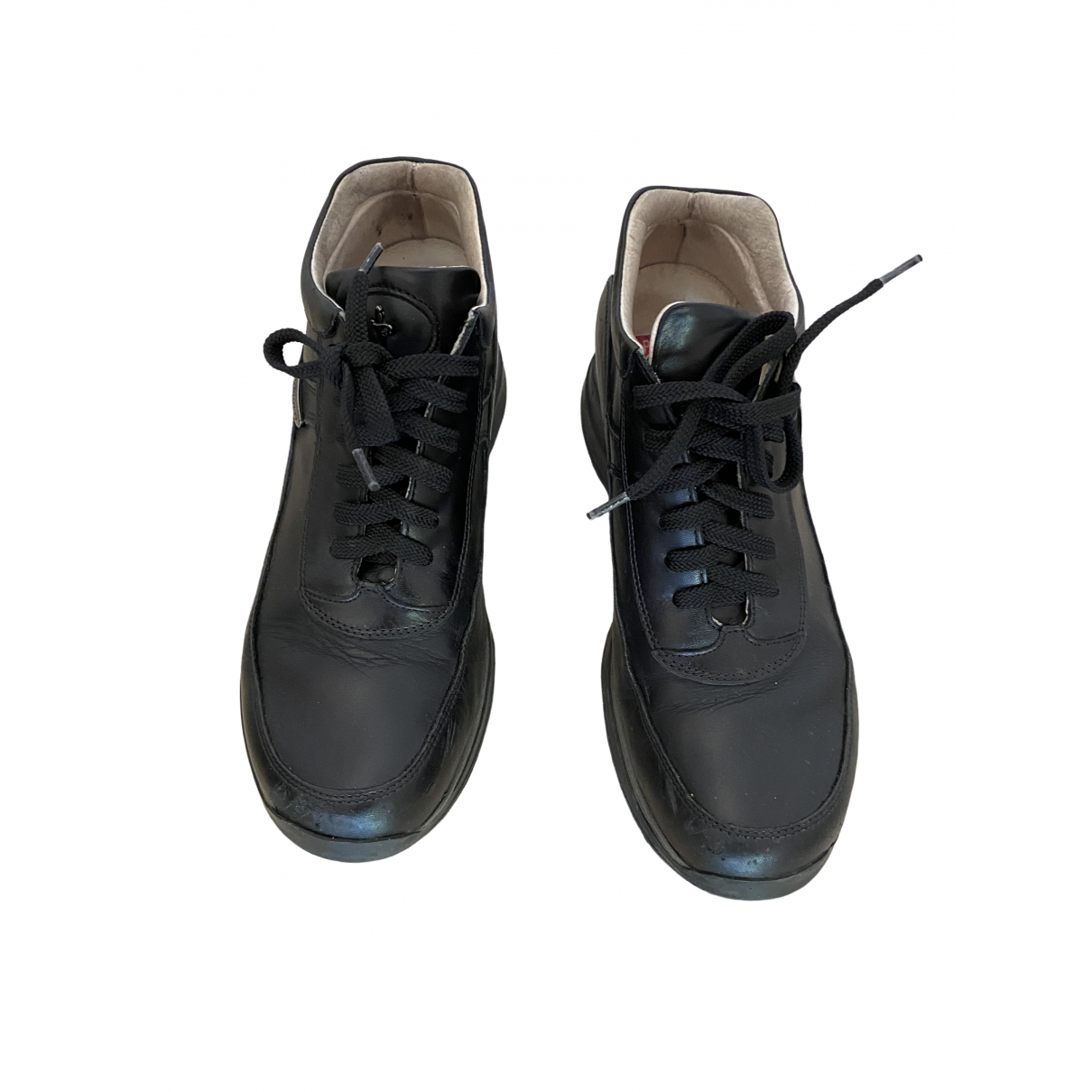 Cesare Paciotti \N Black Leather Trainers for Kids 34 EU