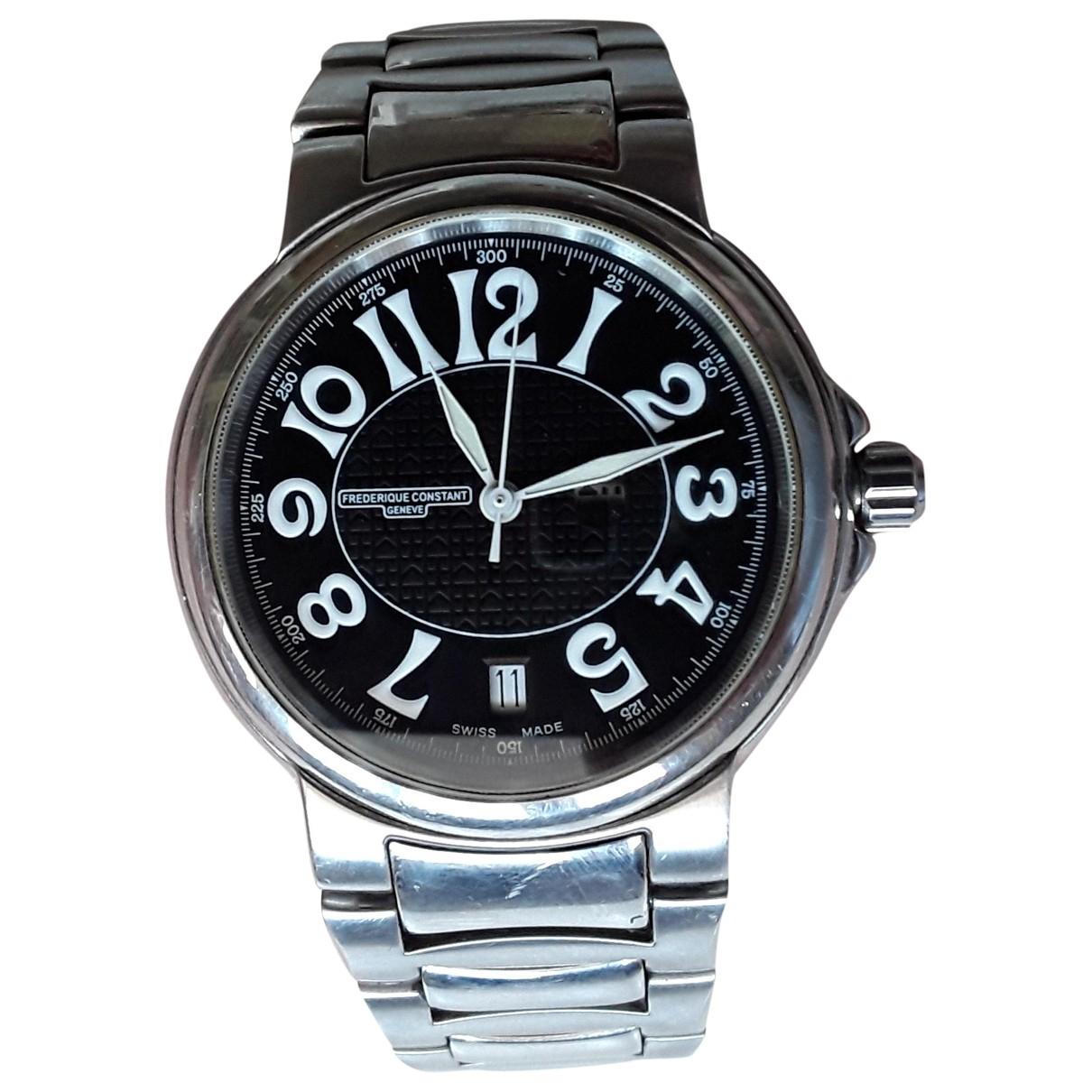 Frederique Constant \N Silver Steel watch for Men \N