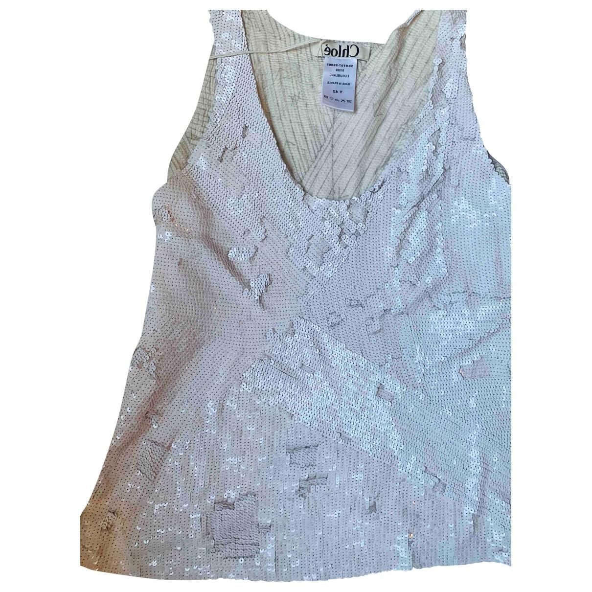 Chloé \N White Glitter  top for Women 42 FR