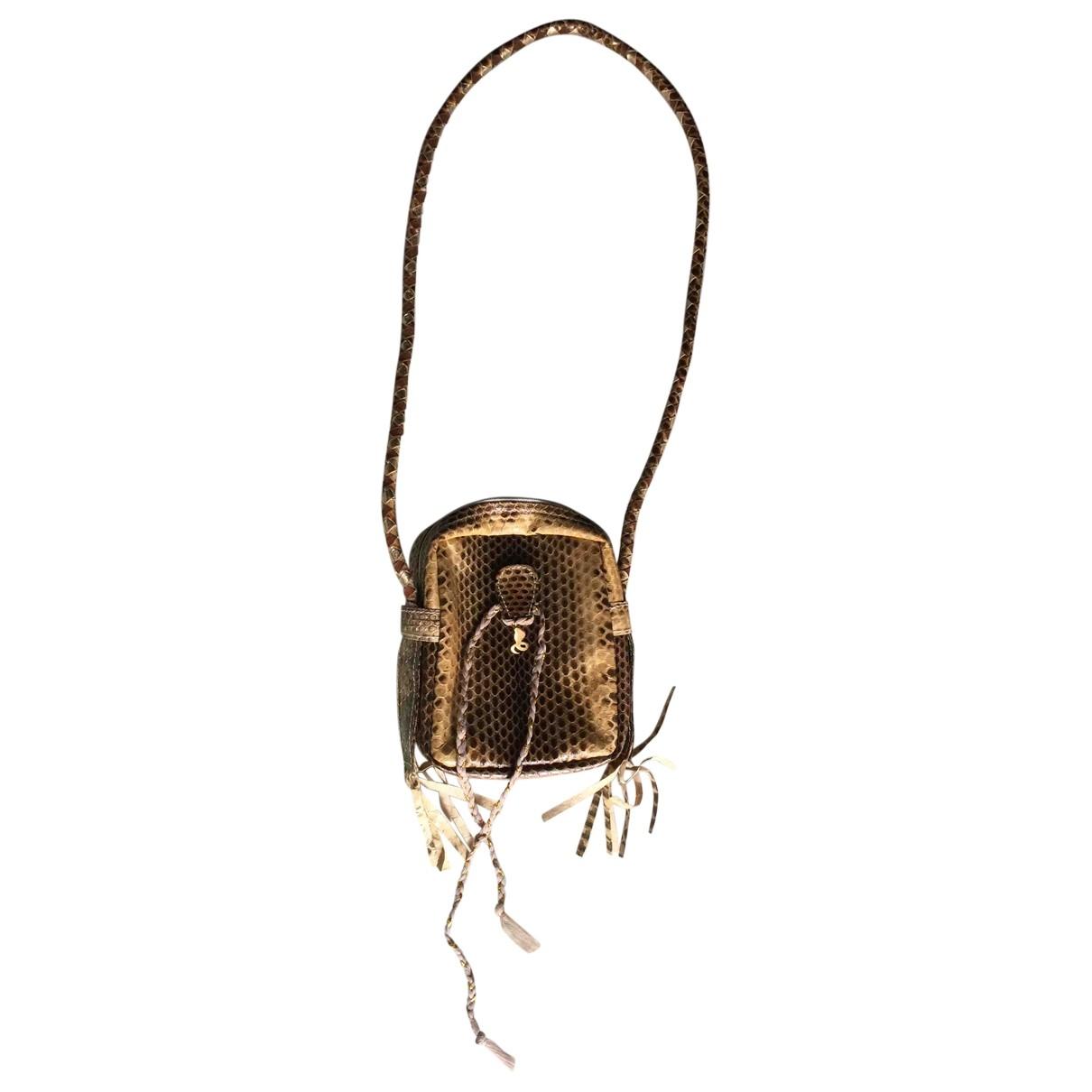 Non Signé / Unsigned \N Ecru Python handbag for Women \N