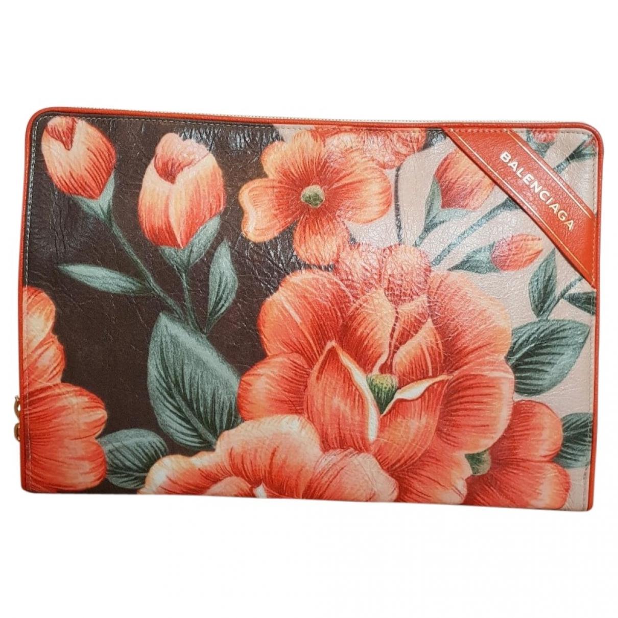 Balenciaga Blanket Orange Leather Clutch bag for Women \N