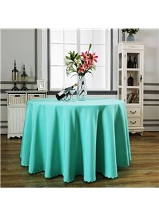 Pure color Round Shape Simple Style Fastness Non-defrmation Table Cloth