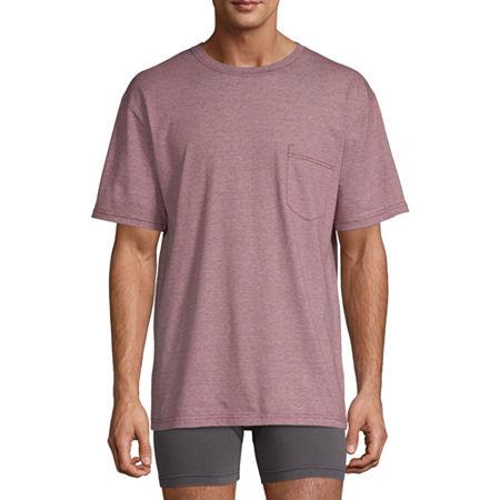 Stafford Mens Crew Neck Short Sleeve T-Shirt, Medium , Red
