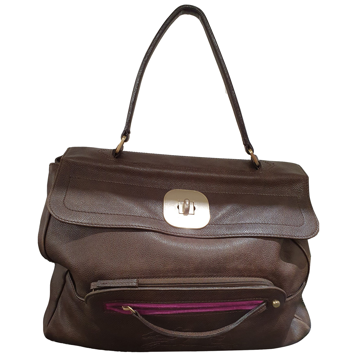 Longchamp \N Brown Leather handbag for Women \N