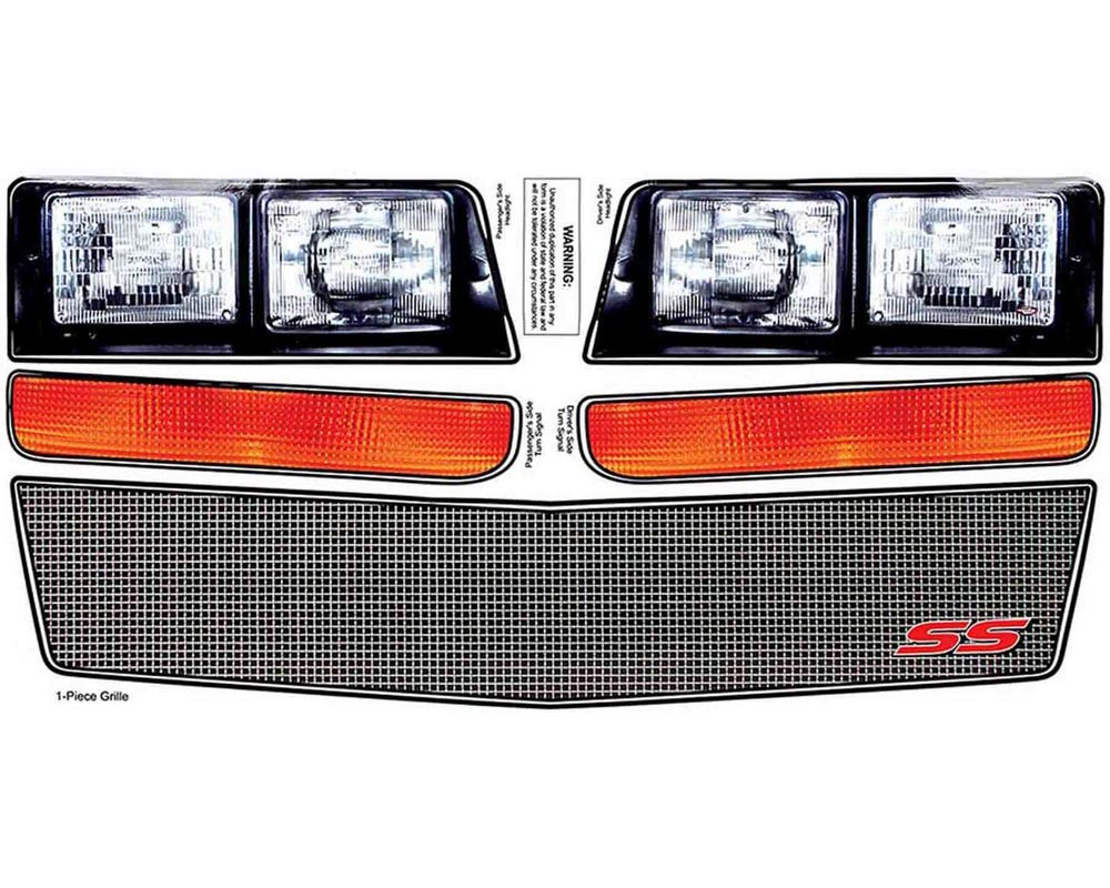 Allstar Performance ALL23038 M/C SS Nose Decal Kit Mesh Grille 1983-88 ALL23038