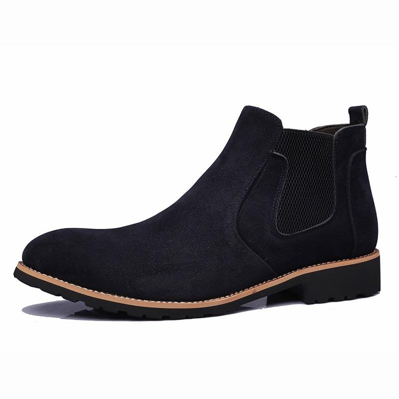 Ericdress Plain Round Toe Elastic Men's Boots
