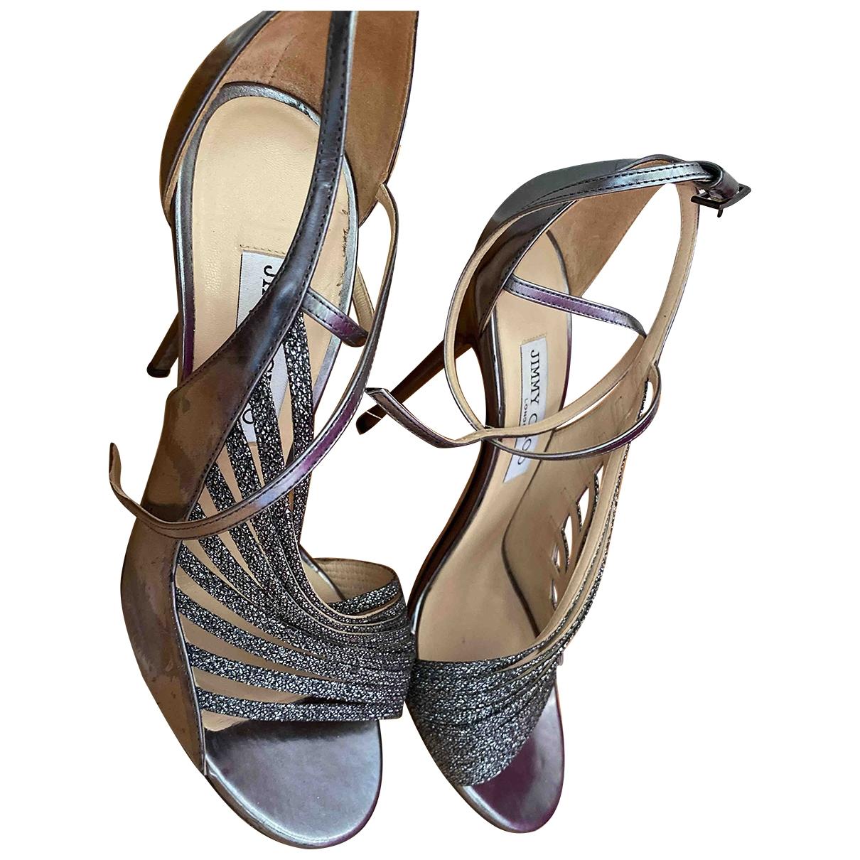 Jimmy Choo \N Metallic Glitter Sandals for Women 38.5 EU