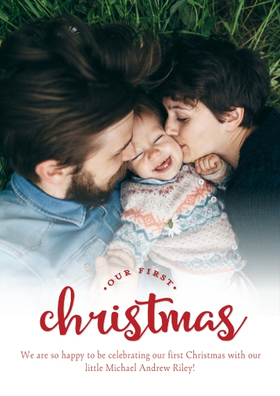 Christmas Photo Cards 5x7 Cards, Premium Cardstock 120lb, Card & Stationery -Our First Christmas
