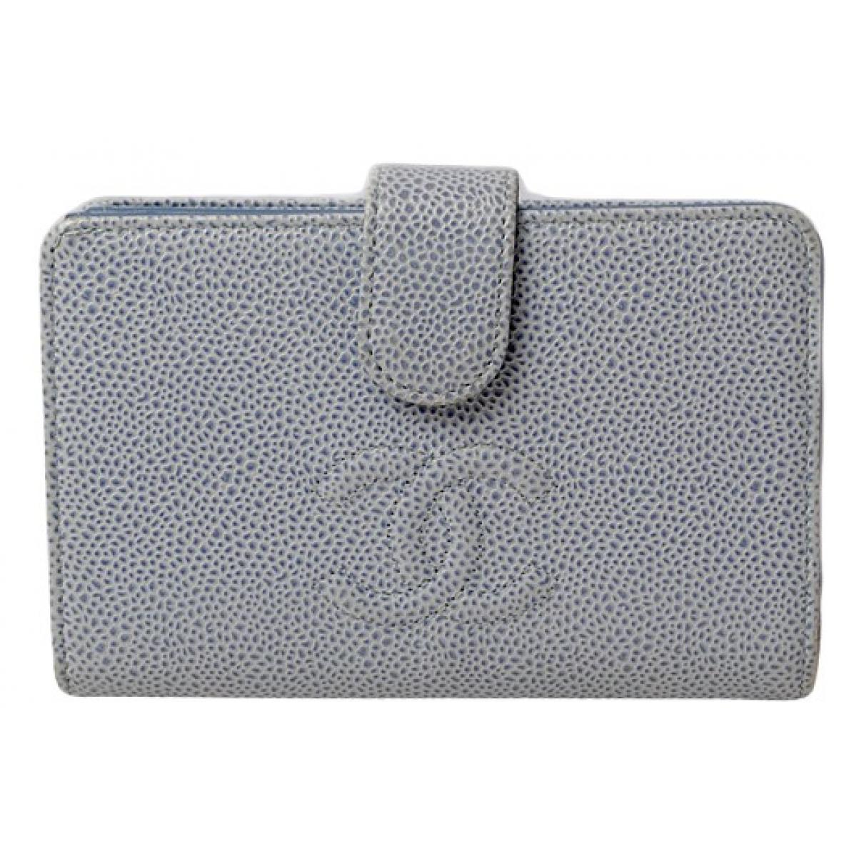 Chanel \N Blue Leather wallet for Women \N