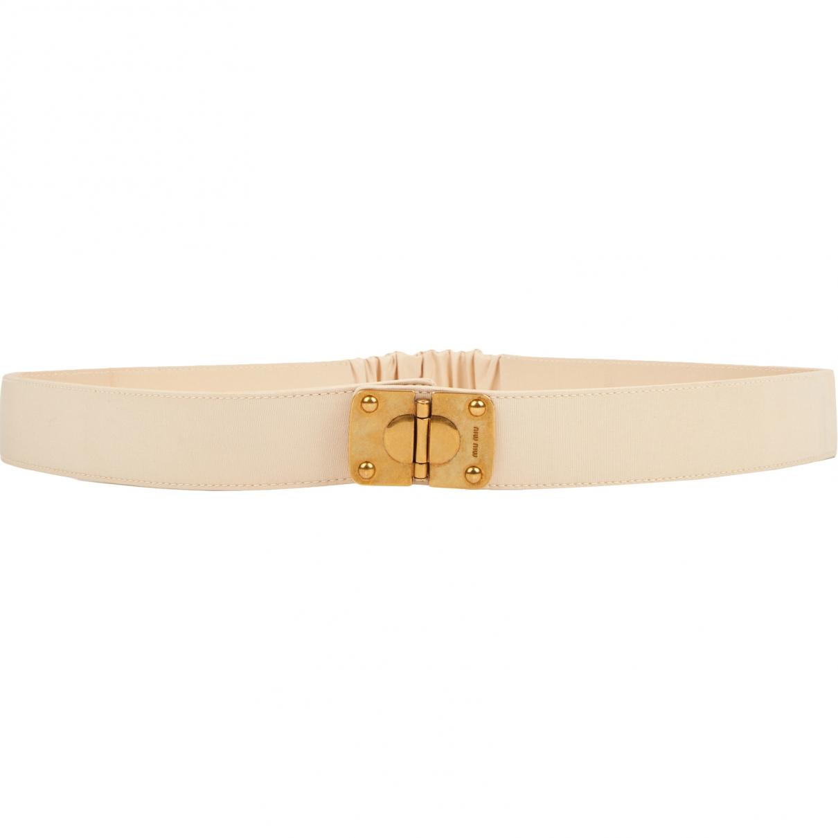 Miu Miu \N Beige Cloth belt for Women 80 cm