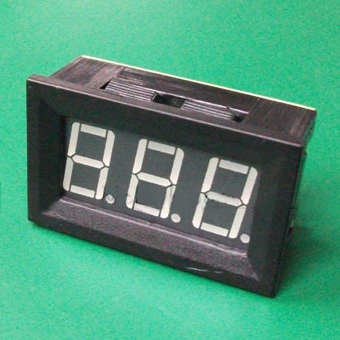 C27 DC Ammeter DC9.99A Digital Meter Head Red Light 4.5 30V - Black