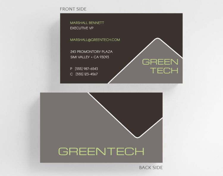 Vertical Shades Business Card Standard Size - Business Cards