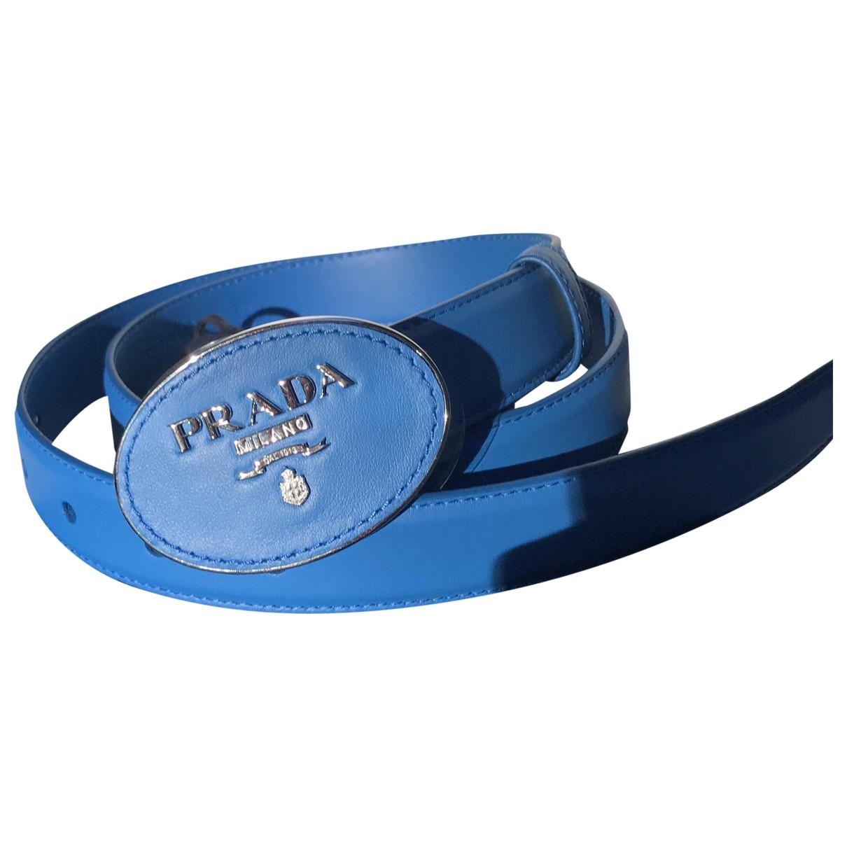 Prada \N Blue Leather belt for Women 80 cm