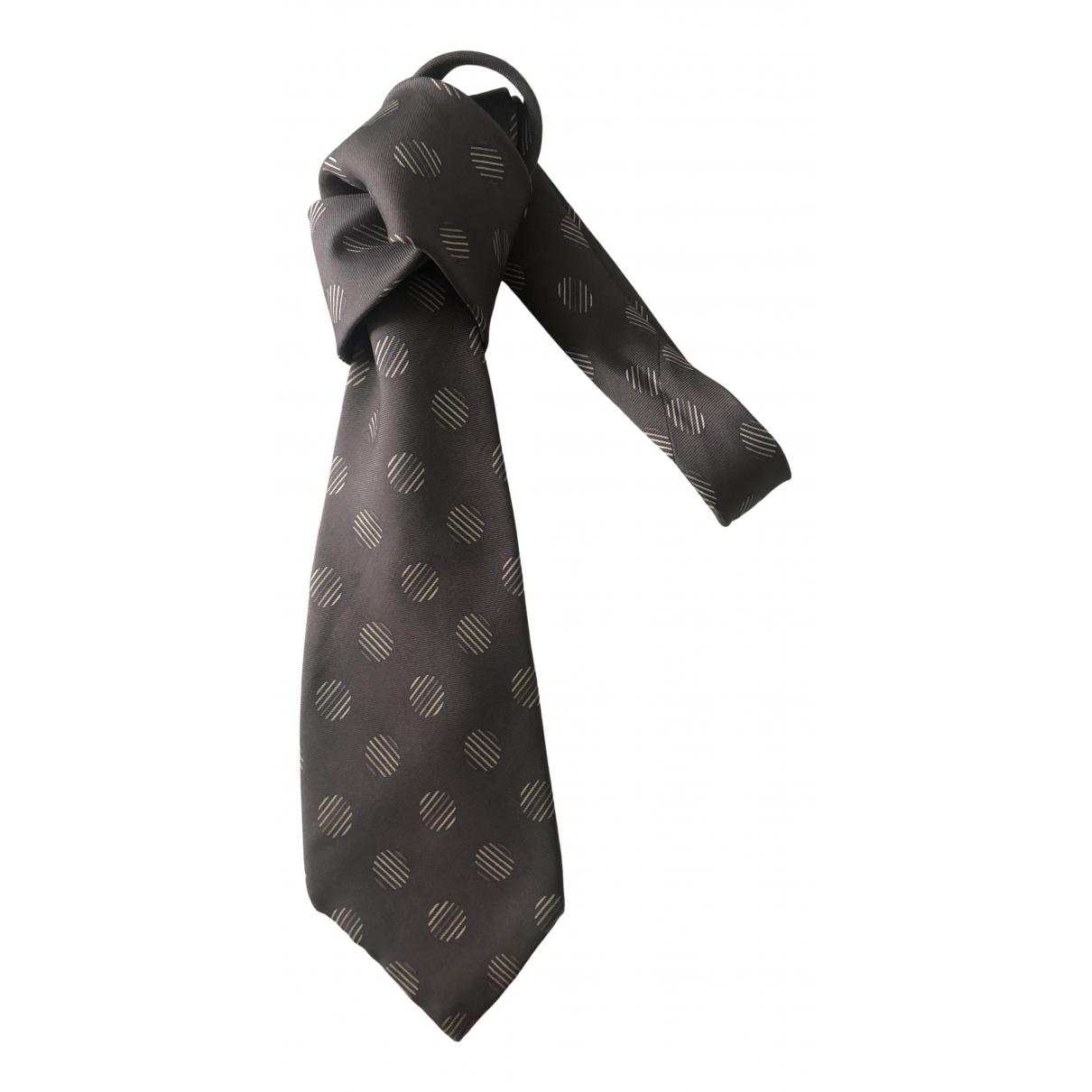 Dior \N Grey Silk Ties for Men \N