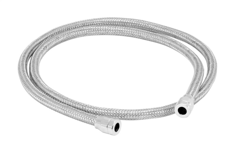 Spectre 19198 Stainless Steel Flex Vacuum Hose 5/32in. - 3ft. - Chrome
