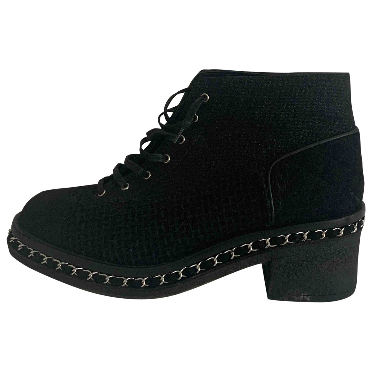 Chanel \N Black Tweed Ankle boots for Women 42 EU