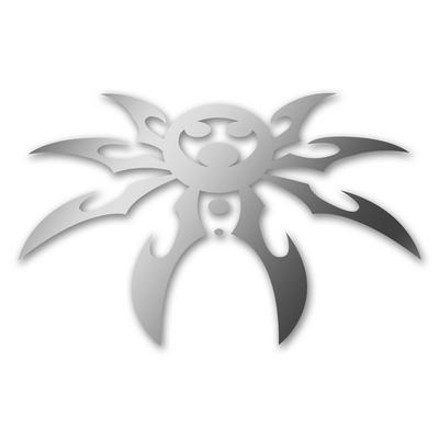 Poison Spyder Spyder Logo Hood Decal in Silver (Silver) - 51-46-011-S