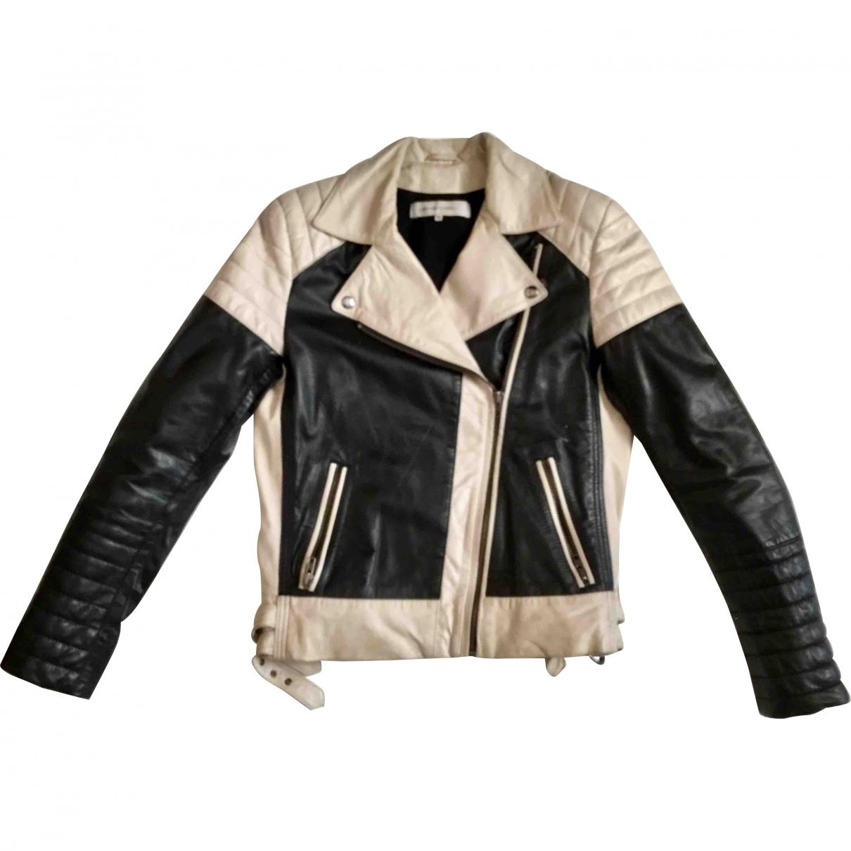 Gerard Darel \N Black Leather Leather jacket for Women 36 FR