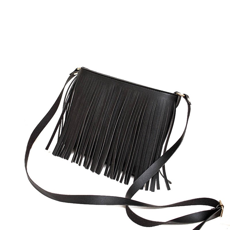 Ericdress Plain PU Tassel Square Shoulder Bags