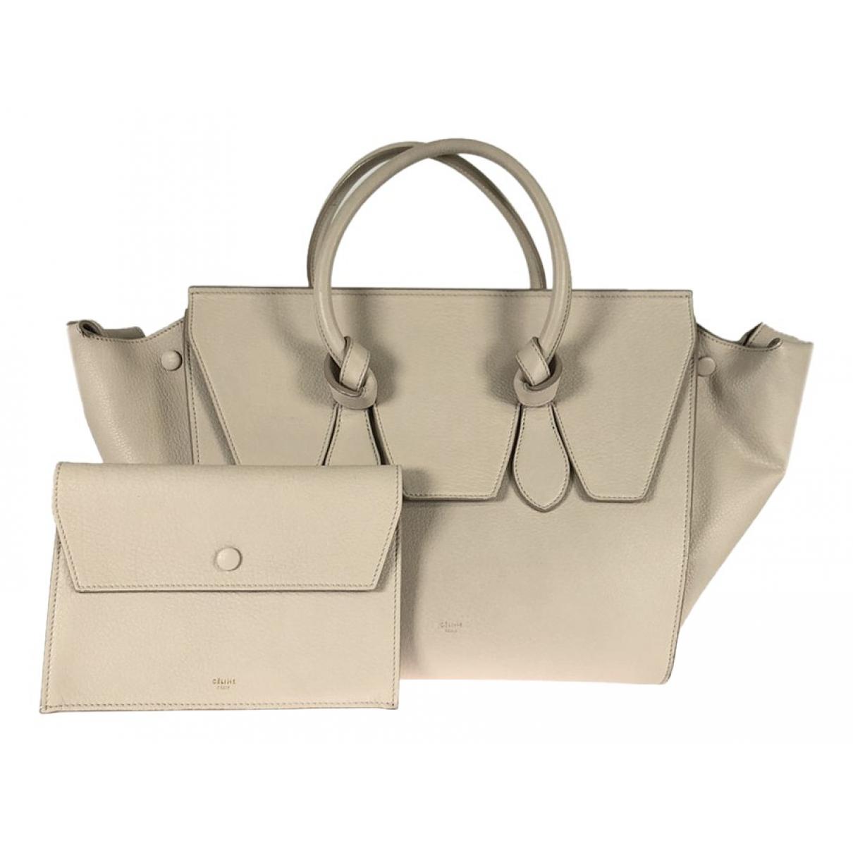 Celine Tie Beige Leather handbag for Women \N