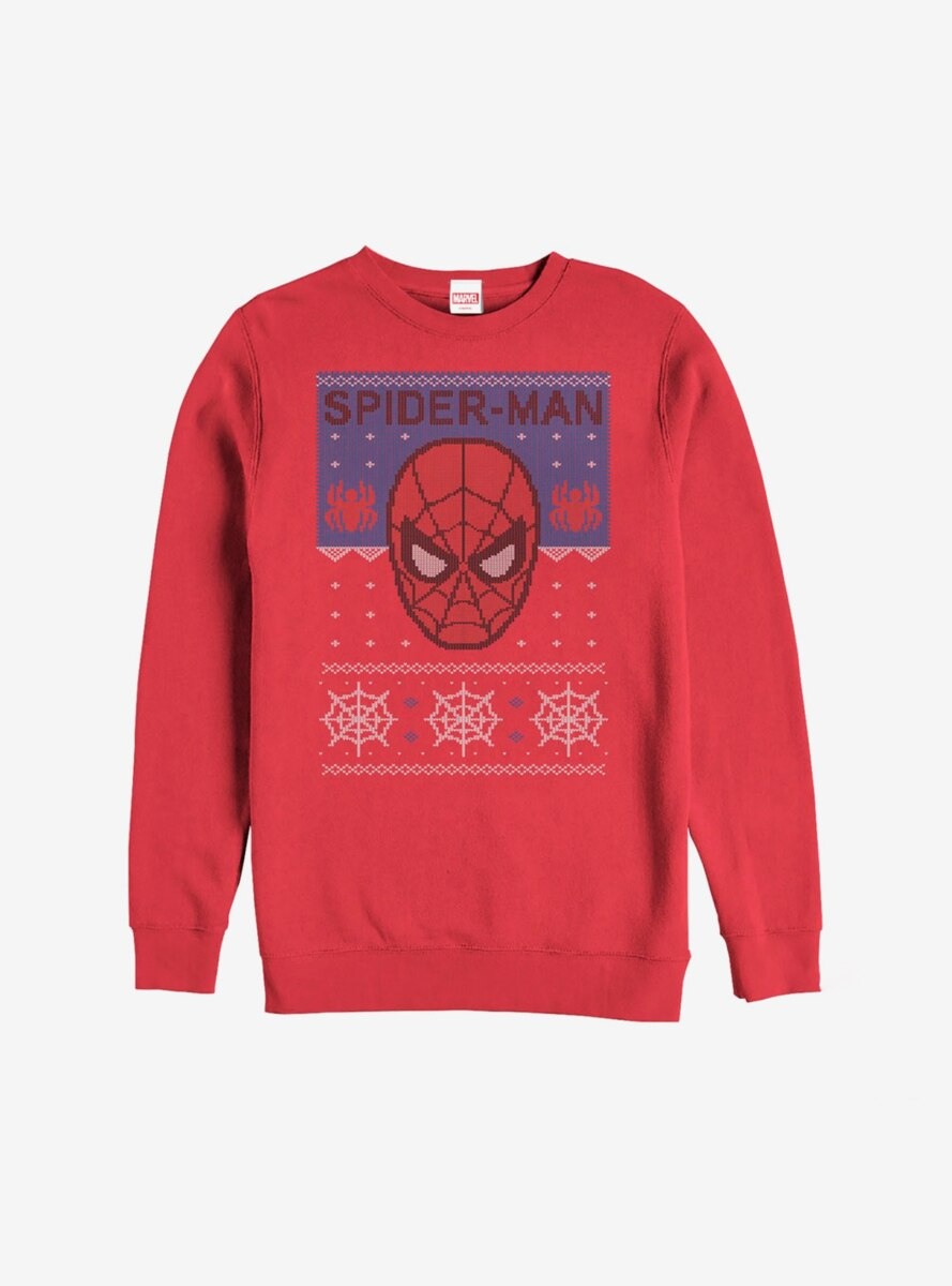 Marvel Spider-Man Christmas Pattern Sweatshirt