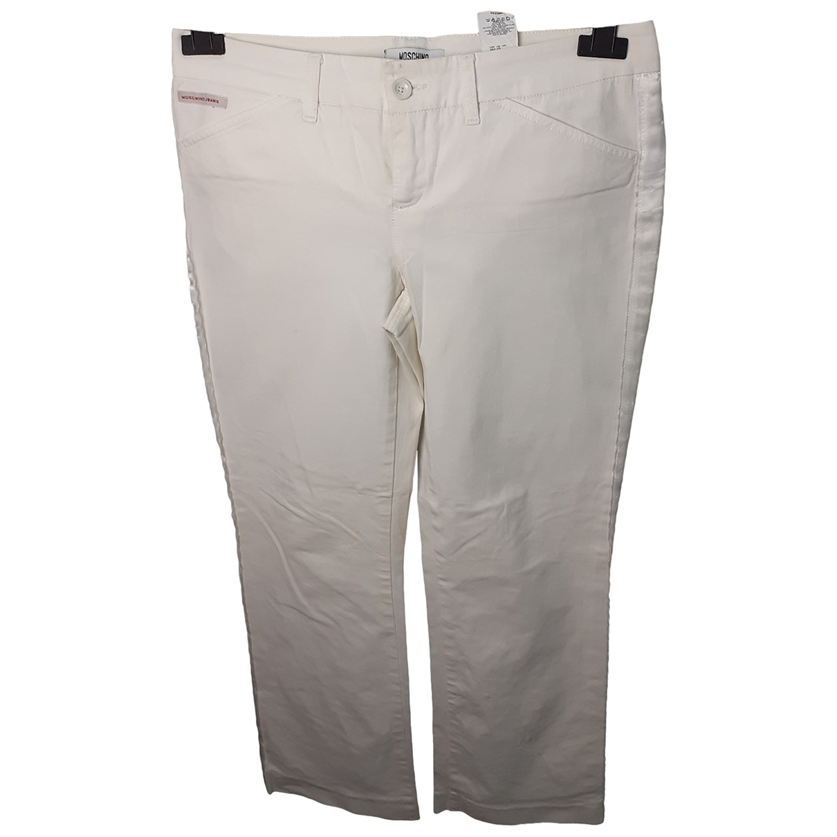 Moschino Cheap And Chic \N White Cotton Trousers for Women 44 IT